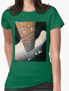 Guitar down the string Womens Fitted T-Shirt