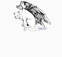 Winged Cat Womens Fitted T-Shirt