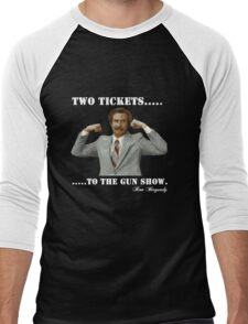 "Anchorman - Ron Bergundy ""Gun Show"" Men's Baseball ¾ T-Shirt"