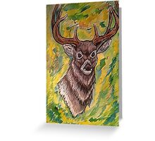 Watercolor Deer Greeting Card