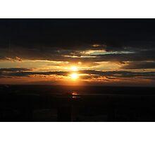 Sunset over Manhattan Photographic Print