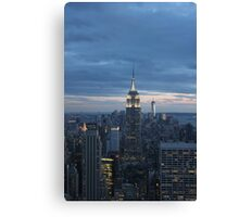 The Empire State Building at dusk Canvas Print