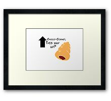 Miscellaneous - choco-cornet - light Framed Print