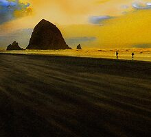 Haystack in Canon Beach by Pavel Rehurek