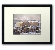 Middle Eastern Town Framed Print
