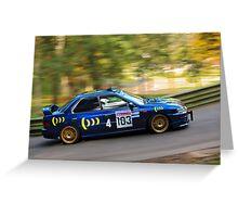 Subaru Impreza WRX STi Greeting Card