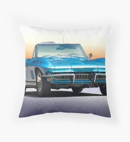 1967 Chevrolet Corvette Convertible Throw Pillow