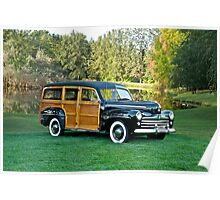 1947 Ford 'Woody' Estate Wagon Poster