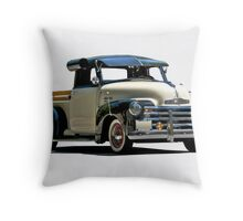 1950 Chevrolet 3100 'Fully Accessorized' Pick-Up Throw Pillow