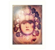 The Third Eye ~ doilied + colored Art Print