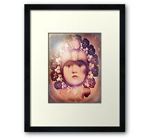 The Third Eye ~ doilied + colored Framed Print