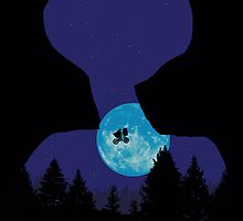 E.T. the Extra-Terrestrial Silhouette  by Creative Spectator