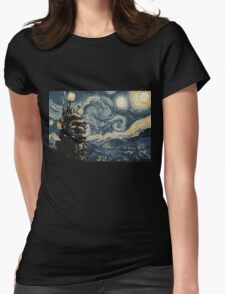 Howl's Stary Night Womens Fitted T-Shirt