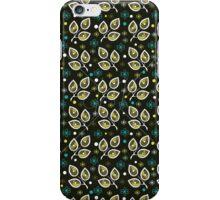 Leaves Pattern Dark iPhone Case/Skin