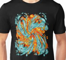 Splash Attack: Aqua and Fire Unisex T-Shirt