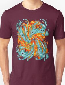 Splash Attack: Aqua and Fire T-Shirt