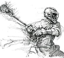 Lacrosse In Motion by Colin Donegan