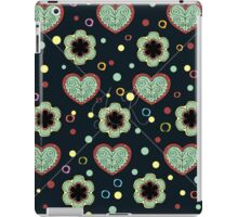 Heart And Flowers Pattern iPad Case/Skin