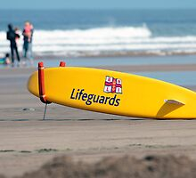 RNLI Lifeguards surf board by Martyn Franklin