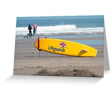 RNLI Lifeguards surf board Greeting Card