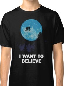 UFO I want to believe E.T. the Extra-Terrestrial Spoof Classic T-Shirt