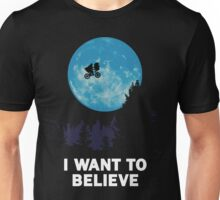 UFO I want to believe E.T. the Extra-Terrestrial Spoof Unisex T-Shirt