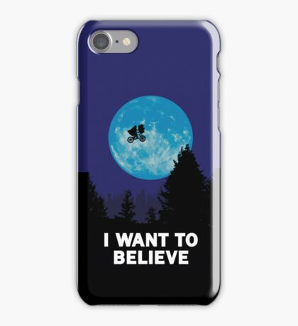 UFO I want to believe E.T. the Extra-Terrestrial Spoof iPhone Case/Skin