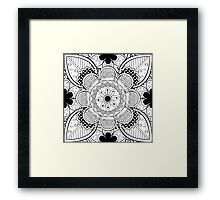 Black And White Lace Pattern Framed Print