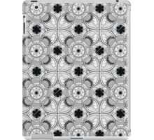 Black And White Lace Pattern iPad Case/Skin