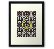 221b Wall Smiley Framed Print