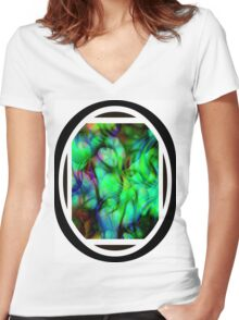 springtime Women's Fitted V-Neck T-Shirt