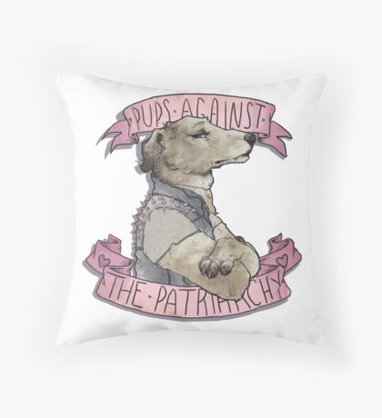 Pups Against the Patriarchy  Throw Pillow