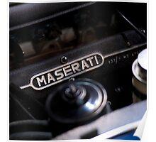Old Maserati Poster