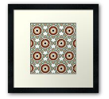 Abstract Flowers White Framed Print