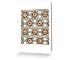 Abstract Flowers White Greeting Card