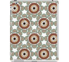 Abstract Flowers White iPad Case/Skin