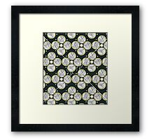 Abstract Circles White Framed Print
