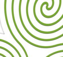 Triple Spiral - Green Sticker