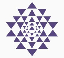 Sri Yantra - Purple by Resonance Clothing