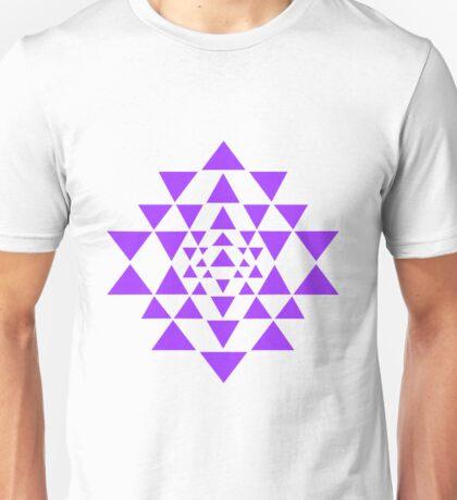 Sri Yantra - Purple Unisex T-Shirt