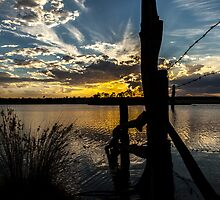 Gordonbrook Dam at Sunset by Rose Hamilton-Barr