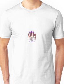 Spiral Healing Hand - Purple/Magenta Unisex T-Shirt