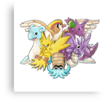 Go Dream Team! | Twitch Plays Pokemon Canvas Print