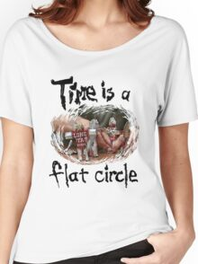 Time Is A Flat Circle Women's Relaxed Fit T-Shirt