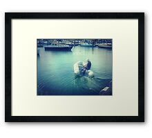 *Going fishing - Where is my Boat! - Williamstown, Vic. Framed Print