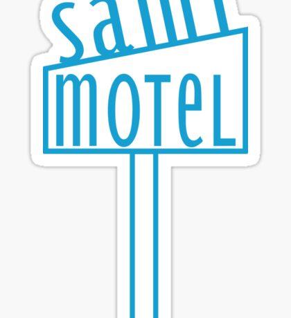 blue motel Sticker