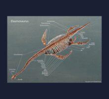 Elasmosaurus Skeleton Study One Piece - Long Sleeve