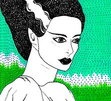 The Bride of Frankenstein by finchandcanary