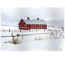 TrainTracks and Red Barns Poster