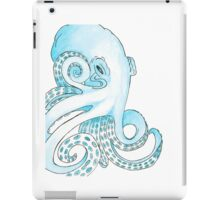 Blue Pen and Watercolor Octopus iPad Case/Skin